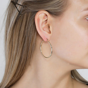 Layla Gold Plated Hoop Earrings