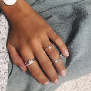 Lulu Infinity Silver Plated Stacking Ring