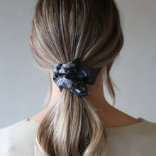Load image into Gallery viewer, Navy Black and Stone Snakeskin Echo Print Scrunchie