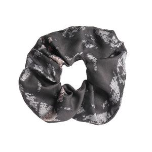 Navy Black and Stone Snakeskin Echo Print Scrunchie
