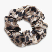 Load image into Gallery viewer, Neutral and Black Leopard Jasper Print Srunchie