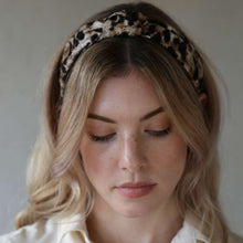 Load image into Gallery viewer, Neutral and Black Leopard Print Jasper Headband
