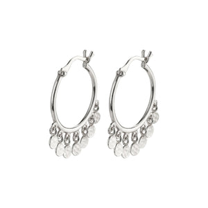 Panna Silver Plated Hoop Earrings