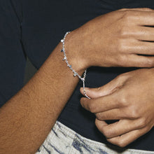 Load image into Gallery viewer, Panna Silver Plated Small Charm Bracelet