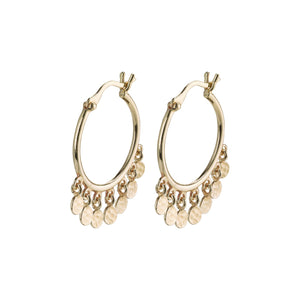 Panna Gold Plated Hoop Earrings