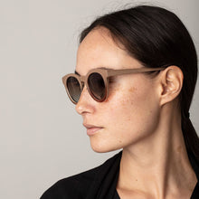 Load image into Gallery viewer, Mali Cat-Eye Sunglasses in Rose/ Brown Marbled Frame