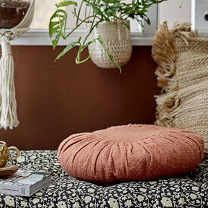 Round-Orange-Cotton-Cushion