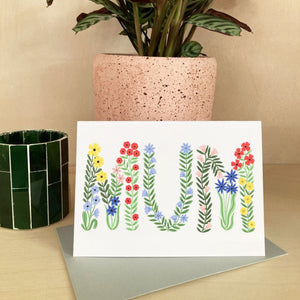 mum mothers day card spring typography card holly Maguire
