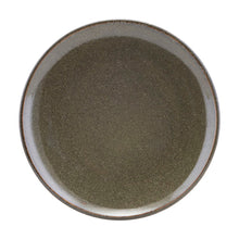Load image into Gallery viewer, Stoneware Glazed Dinner Plate in Lake Green