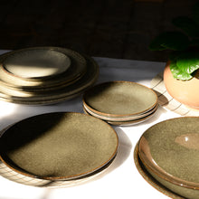 Load image into Gallery viewer, Stoneware Glazed Lunch Plate in Lake Green