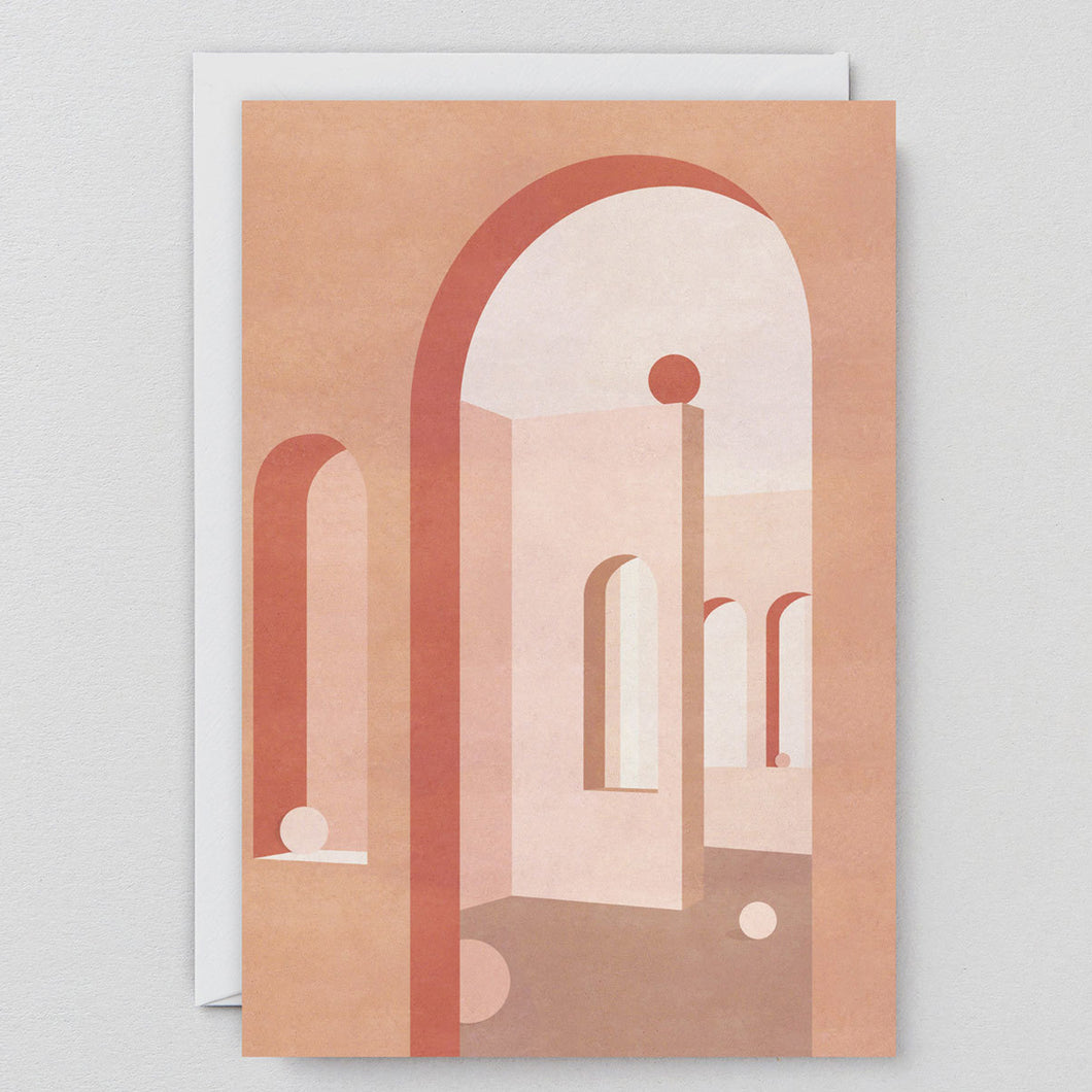 Terracotta Arches Card