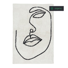 Load image into Gallery viewer, Visage Shaggy Rug in Natural and Black Organic Cotton 140x200