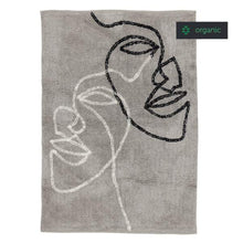 Load image into Gallery viewer, Visage Two Shaggy Rug in Grey with Natural / Black in Organic Cotton 140x200