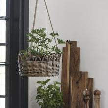 Load image into Gallery viewer, Willow Hanging Basket with Jute Rope