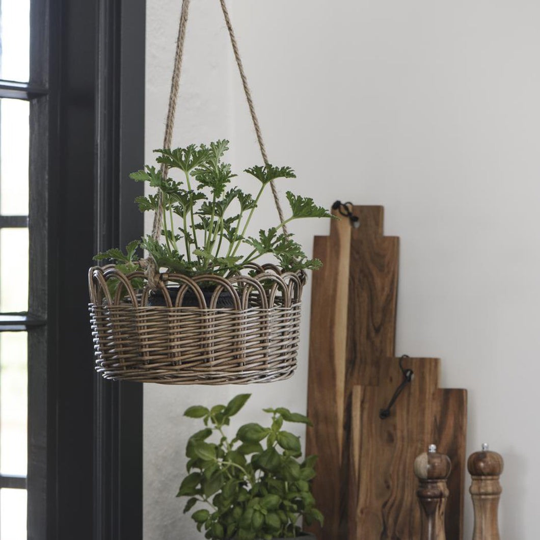 Willow Hanging Basket with Jute Rope