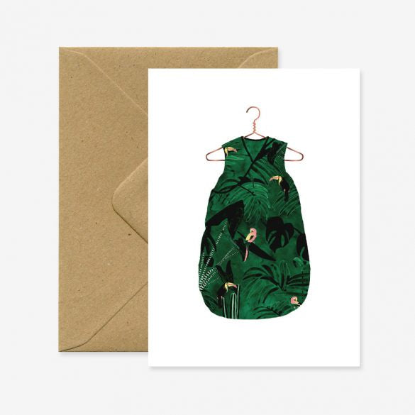 All The Ways To Say Jungle Babygrow Card