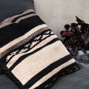 House Doctor Brown And Black Berber Cushion
