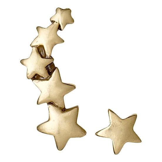 Pilgrim Ava Star Crawler Earrings