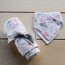 Load image into Gallery viewer, Bunny Damask Muslin Swaddle