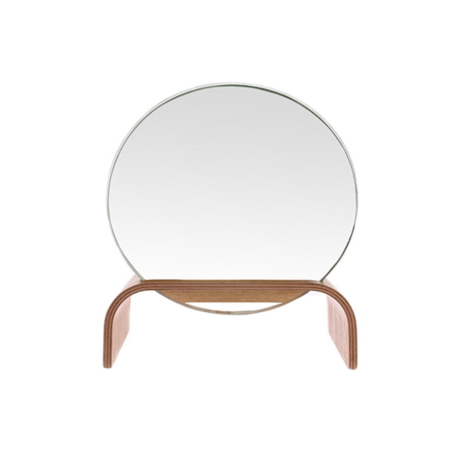 HK Living Mirror with Willow Wood Stand