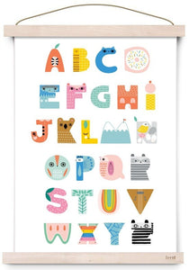 Petit Monkey ABC Shapes Poster