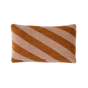 100% Cotton Takara Cushion in Striped Caramel and Rose 35 X 50 OYOY
