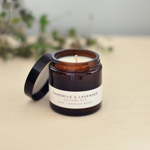 Camomile and Lavender Scented Candle