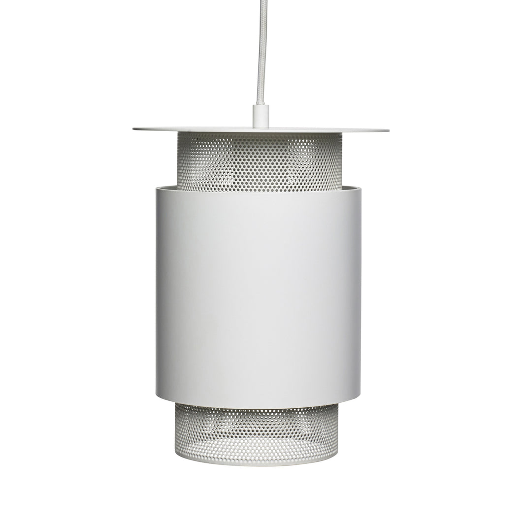 Hubsch Mesh White Metal Lamp