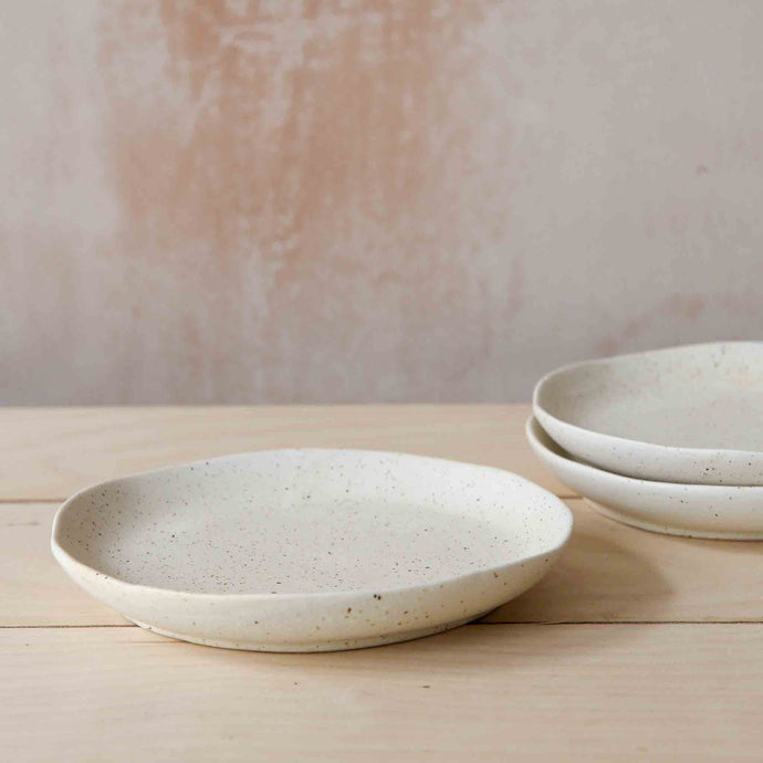 White Willow Speckle Stoneware Plate