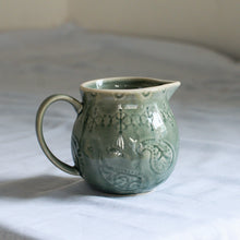 Load image into Gallery viewer, Bloomingville Rani Green Stoneware Jug