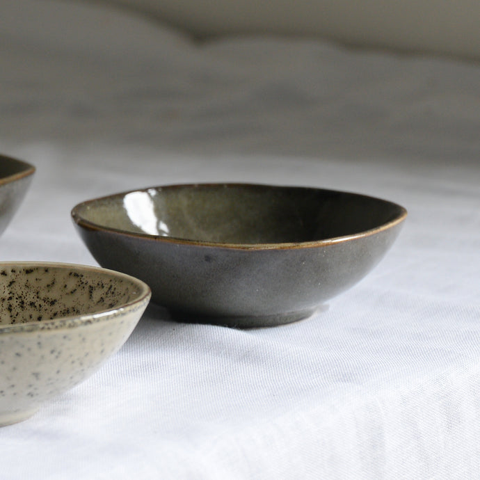 Stoneware Glazed Nibbles Bowl in Lake Green