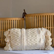 Load image into Gallery viewer, bloomingville-interiors-cream-tassle-cushion