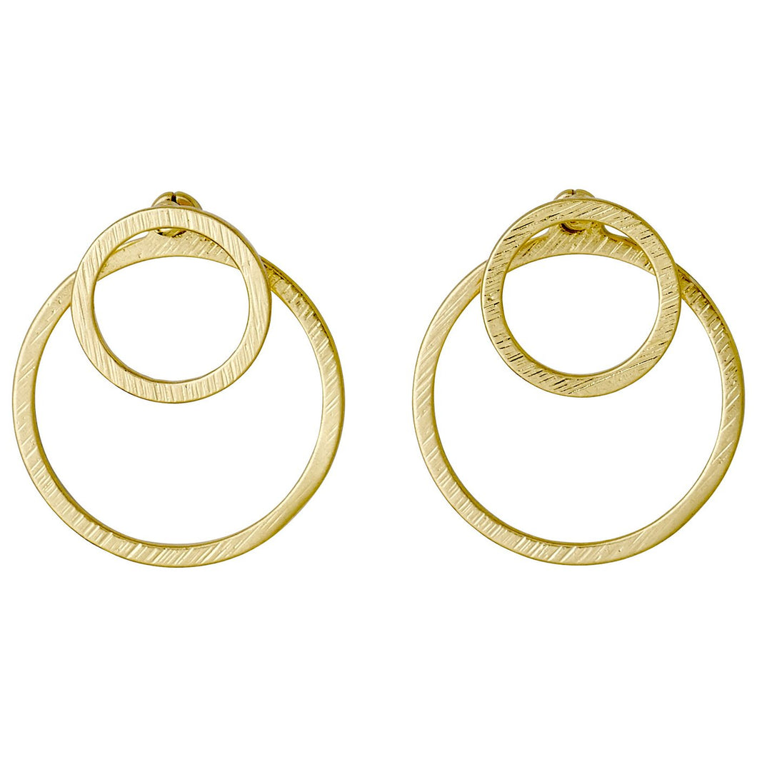 Pilgrim Zooey Two In One Flat Circle Earrings
