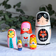 Load image into Gallery viewer, fleur-and-friends-nesting-dolls