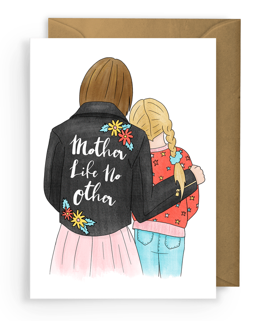 Sketchy print co mum Mother's Day card greeting mon pote