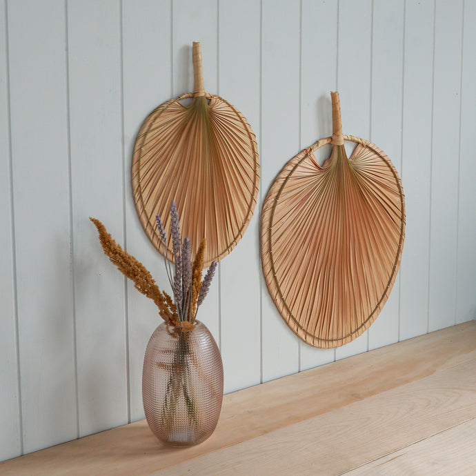 Wall Palm Leaf Shaped Fan in Small
