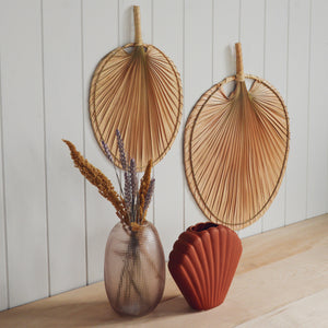 Wall Palm Leaf Shaped Fan in Large