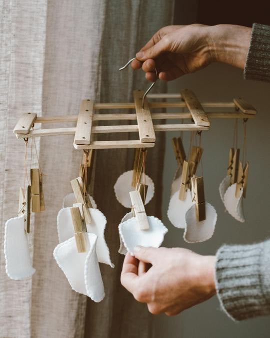 Bamboo Laundry Peg Airer