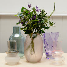 Load image into Gallery viewer, hubsch-pink-glass-dimple-vase