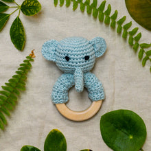 Load image into Gallery viewer, elephant crochet rattle global affairs