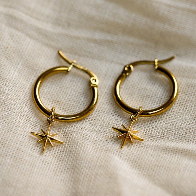 mara gold star earrings