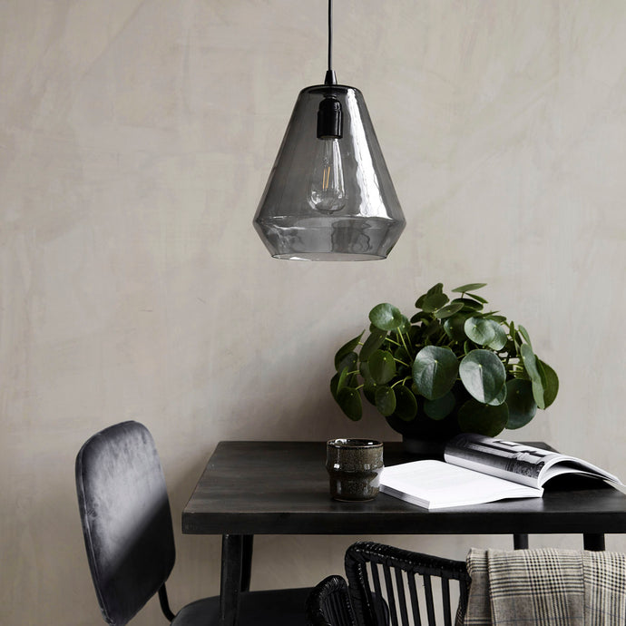 House Doctor Grey Glass Hood Lamp