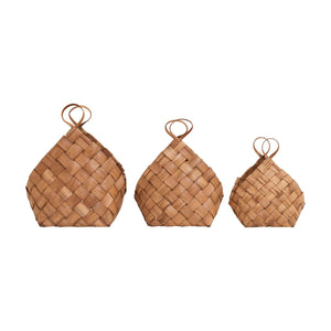 House Doctor Conical woven baskets (Choice of three sizes)