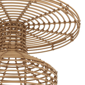 Rattan Table Furniture Close Up