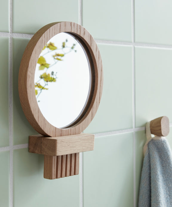 Hubsch Wall Mirror in Oak FSC Certified