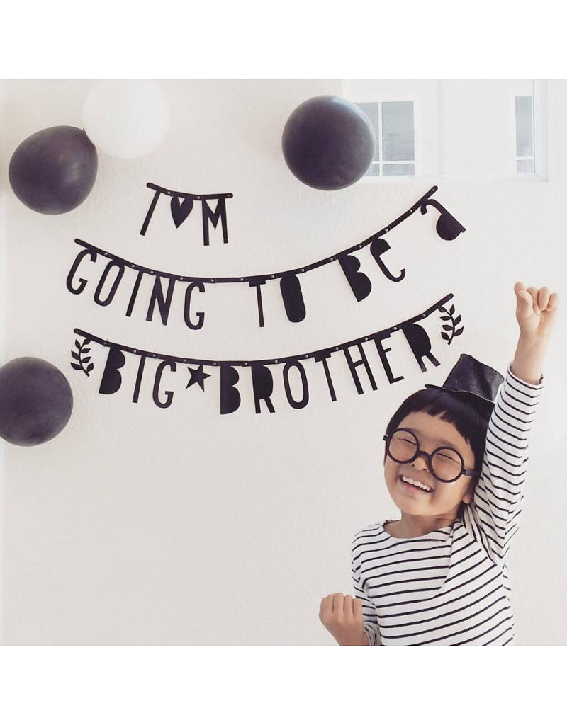 A Little Lovely Company Black DIY Letter Banner