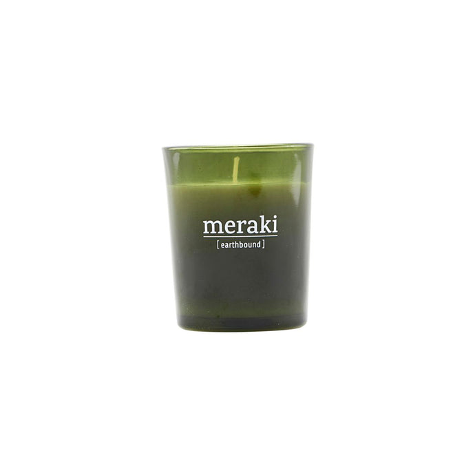 meraki earthbound green glass candle soul fragrance small