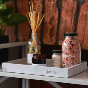 meraki concrete display tray