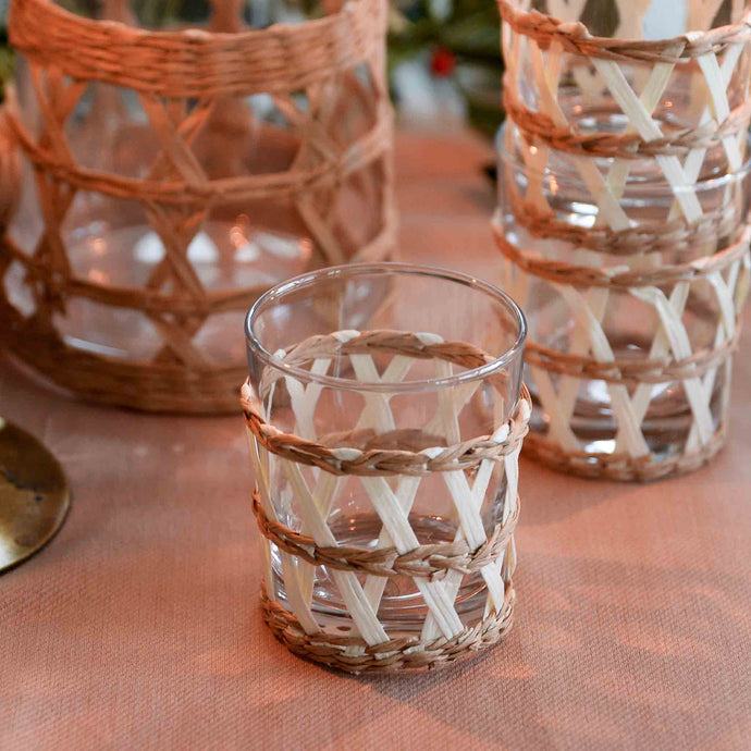 woven bamboo drinking glass