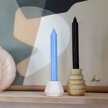 Load image into Gallery viewer, White Ceramic Porcelain Candle Holder in Two Sizes